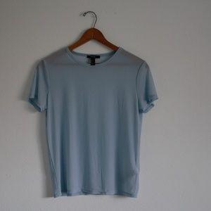 Light Blue Mesh T-Shirt